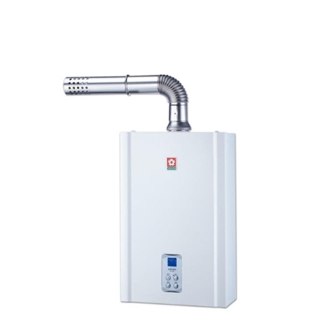 《結帳更優惠》(含全省安裝)櫻花16公升強制排氣(與SH1635同款)熱水器數位式SH-1635《來店LG加碼第2件現折94折+12期0利率》