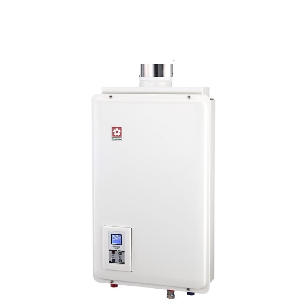 《結帳更優惠》(含全省安裝)櫻花16公升強制排氣(與H1680同款)熱水器數位式H-1680《來店LG加碼第2件現折94折+12期0利率》